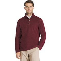 Big & Tall Van Heusen Classic-Fit Mockneck Pullover Sweater
