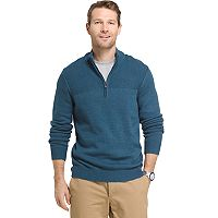 Big & Tall Van Heusen Regular-Fit Cable-Knit Quarter-Zip Sweater