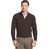 Big & Tall Van Heusen Regular-Fit Textured Quarter-Zip Pullover Sweater
