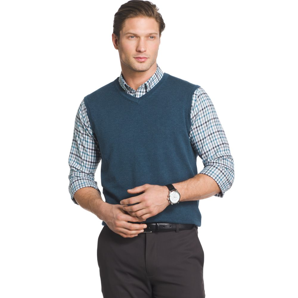 & Tall Van Heusen Classic-Fit Argyle Sweater Vest