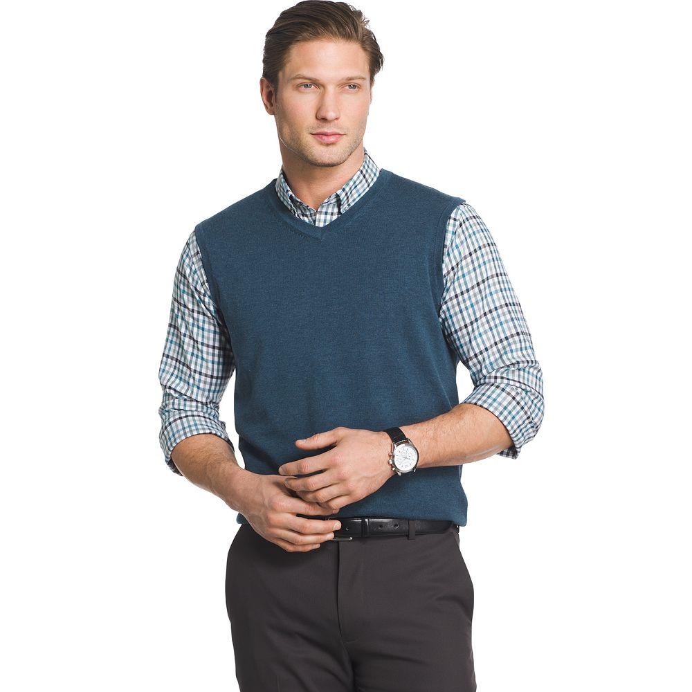 & Tall Van Heusen Classic-Fit Argyle Sweater Vest