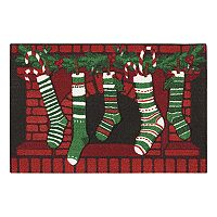 St. Nicholas Square® Stockings Christmas Rug