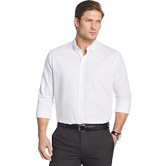 Big & Tall Van Heusen Regular-Fit Striped Sateen Button-Down Shirt