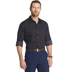 Big & Tall Van Heusen Regular-Fit Striped Sateen Button-Down Shirt