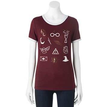 Juniors' Harry Potter Magic Symbols Graphic Tee