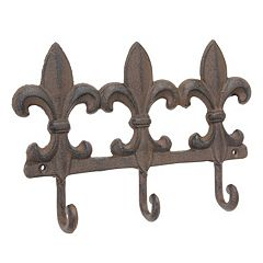 Stonebriar Collection Fleur-De-Lis 3-Hook Wall Decor