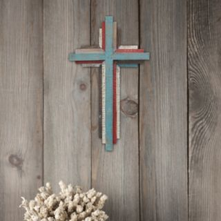 Stonebriar Collection Rustic Wood Cross Wall Decor