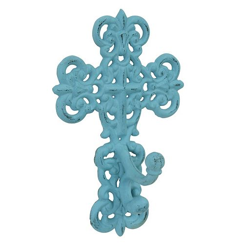 Stonebriar Collection Cast Iron Cross Wall Hook