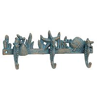 Stonebriar Collection Seahorse 3-Hook Wall Decor