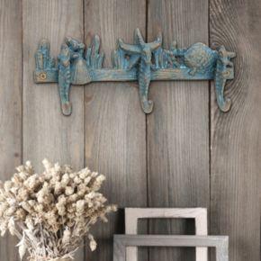 Stonebriar Collection Seahorse 3-Hook Wall Decor