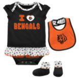 Baby Cincinnati Bengals Team Love Bodysuit Set