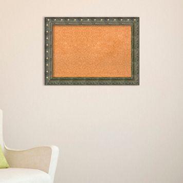Amanti Art Embossed Framed Cork Board Wall Decor
