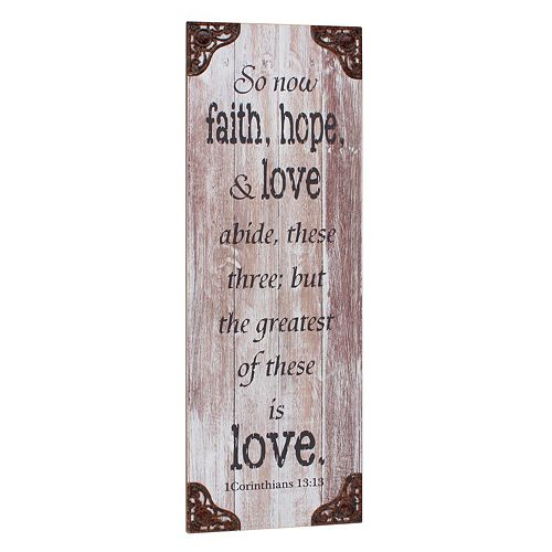 "Stonebriar Collection ""Faith, Hope & Love"" Wall Decor"