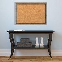 Amanti Art Bel Volto Silver Finish Framed Cork Board Wall Decor