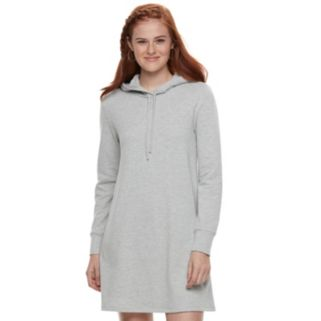 Juniors' Love, Fire Hooded Sweatshirt Dress