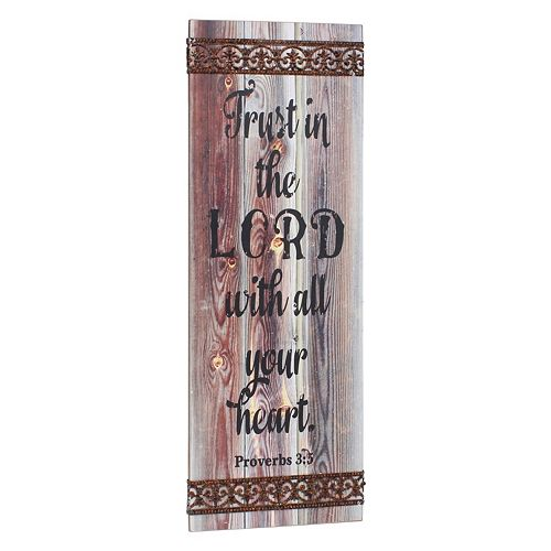 "Stonebriar Collection ""Trust In The Lord"" Wall Decor"