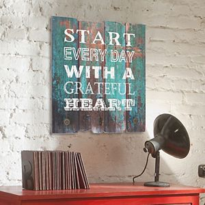 "Stonebriar Collection ""Grateful Heart"" 3-Hook Wall Decor"