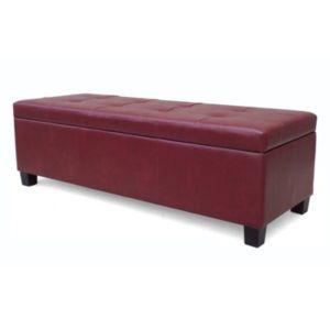 Urban Shop Faux-Leather Storage Ottoman