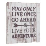 "Stonebriar Collection ""Live Your Adventure"" Wall Decor"