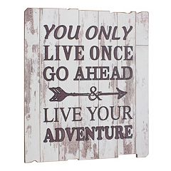 Stonebriar Collection 'Live Your Adventure' Wall Decor