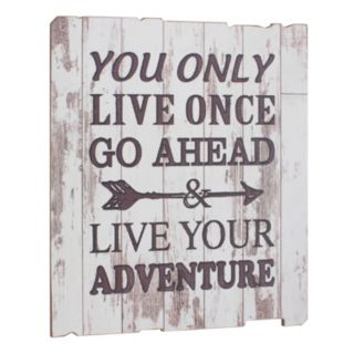 """Stonebriar Collection """"Live Your Adventure"""" Wall Decor"""