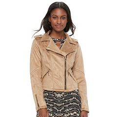 Juniors' Jou Jou Faux-Suede Moto Jacket