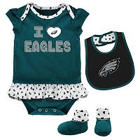 Baby Philadelphia Eagles Team Love Bodysuit Set