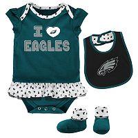 Baby Philadelphia Eagles Team Love Bodysuit Set