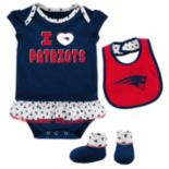 Baby New England Patriots Team Love Bodysuit Set