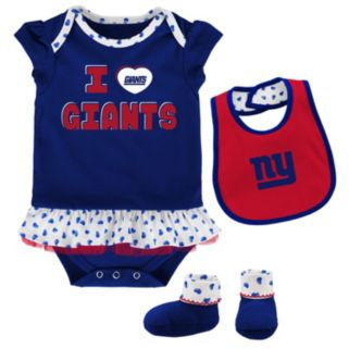 Baby New York Giants Team Love Bodysuit Set