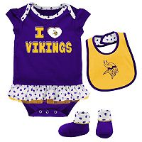 Baby Minnesota Vikings Team Love Bodysuit Set