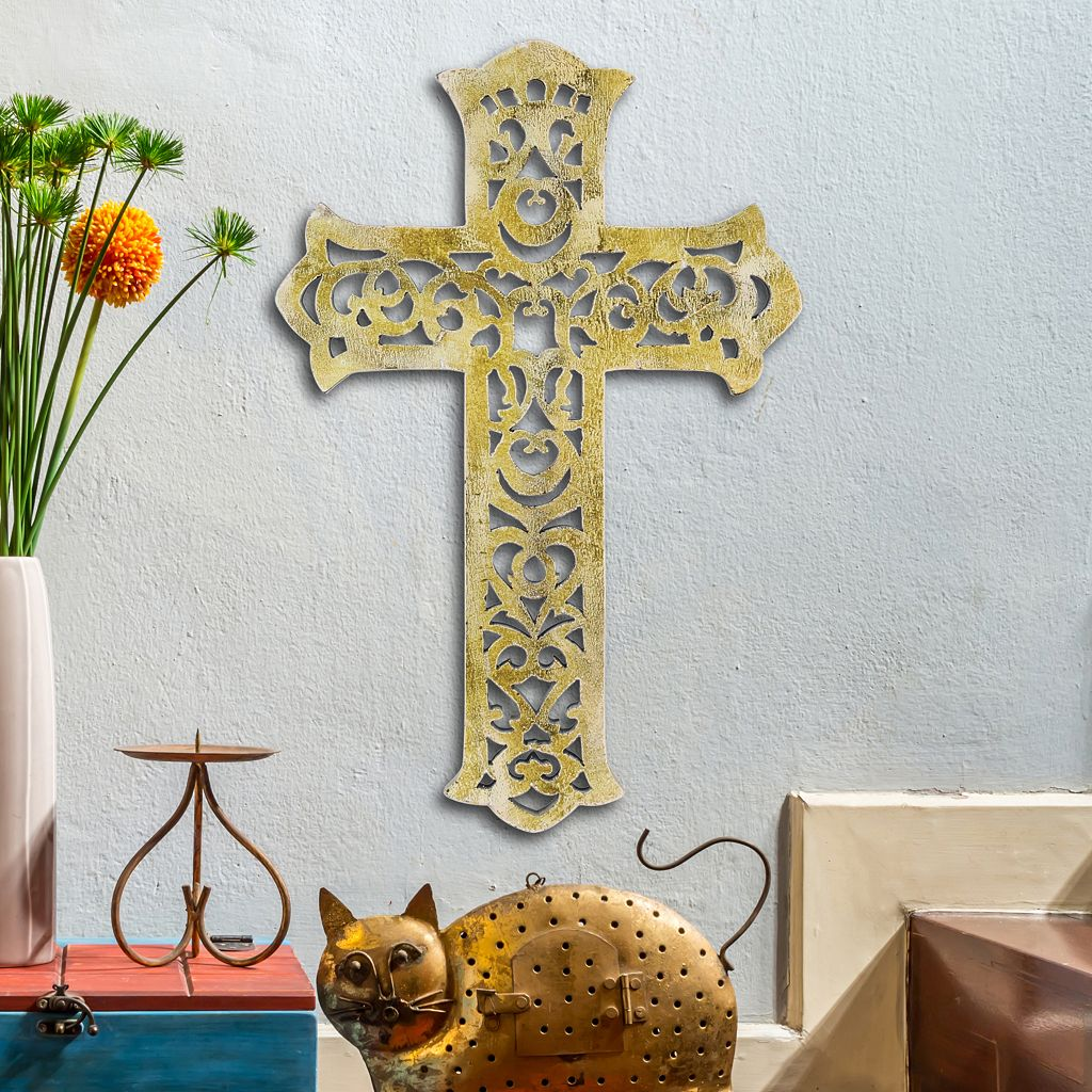 Stonebriar Collection Rustic Cross Wall Decor