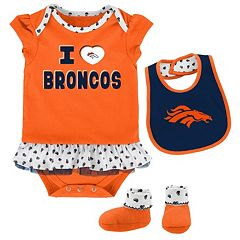 Baby Denver Broncos Team Love Bodysuit Set