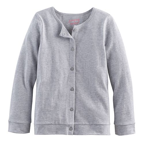 42480eac09 Girls 4-10 Jumping Beans® Button-Front Cardigan