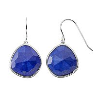 Sterling Silver Lapis Lazuli Drop Earrings