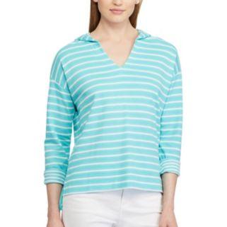 Women's Chaps Striped Hoodie