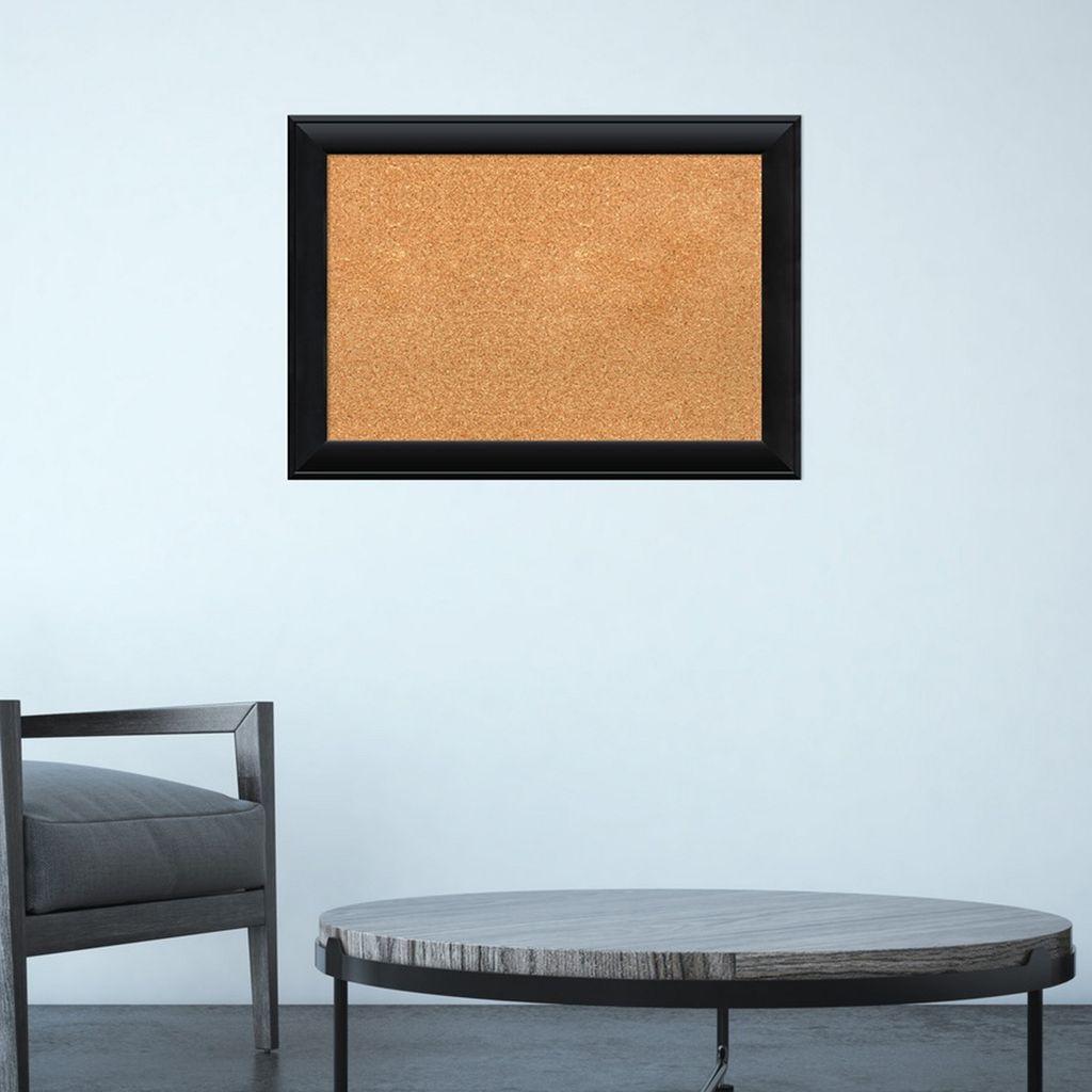Amanti Art Corvino Black Finish Cork Board Wall Decor