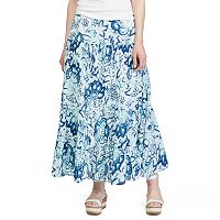 Women's Chaps Floral Crinkle Maxi Skirt