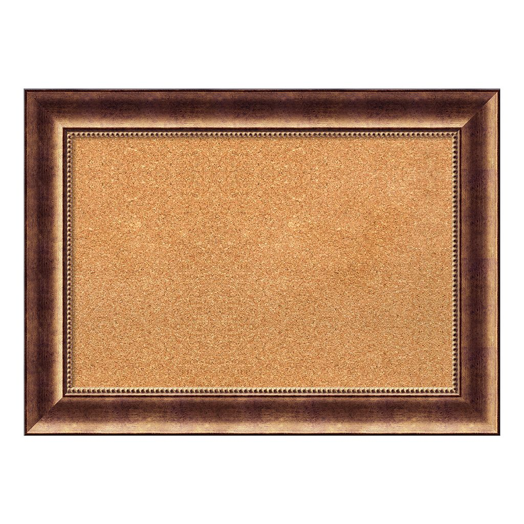 Amanti Art Manhattan Bronze Finish Cork Board Wall Decor