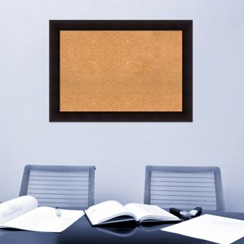 Amanti Art Portico Espresso Finish Cork Board Wall Decor