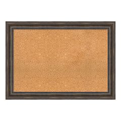 Amanti Art Rustic Pine Finish Framed Cork Board Wall Decor