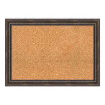 Amanti Art Rustic Pine Finish Framed Cork Board Wall Decor