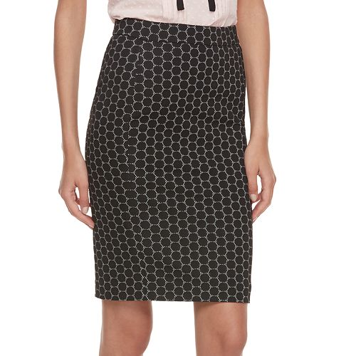 6bcdc8a5623dc Women s ELLE™ Geometric Pull-On Pencil Skirt