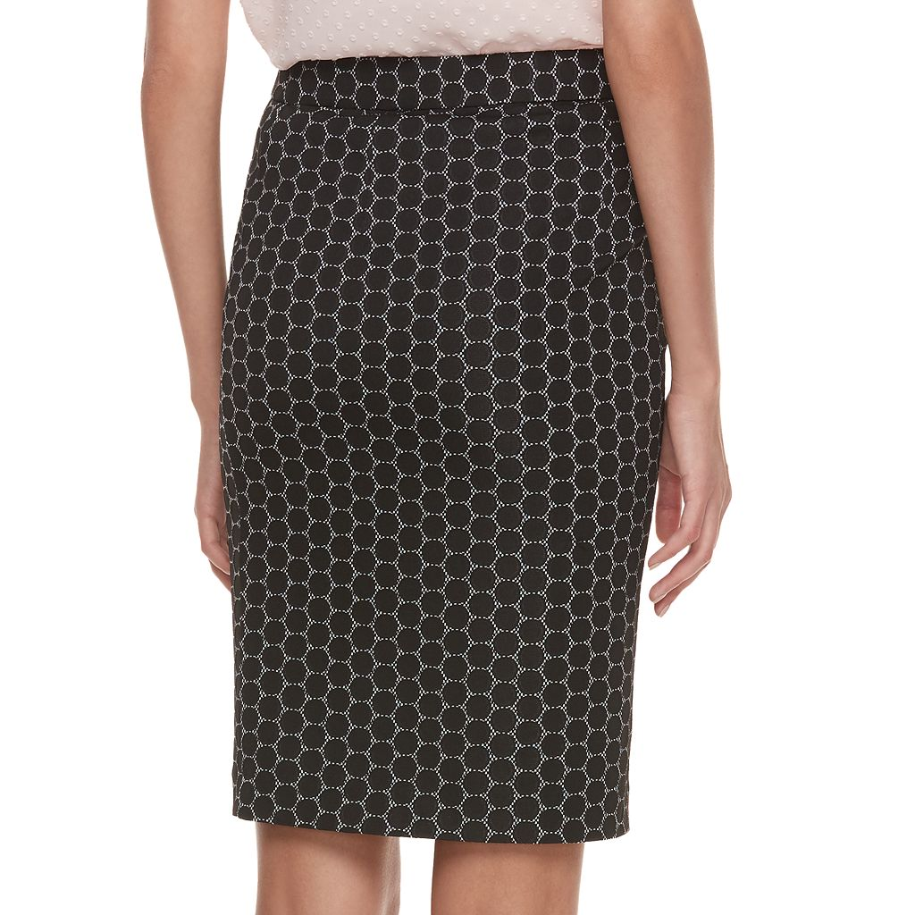 Women's ELLE™ Geometric Pull-On Pencil Skirt