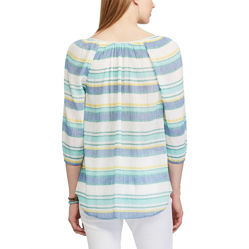 Women's Chaps Striped Peasant Top