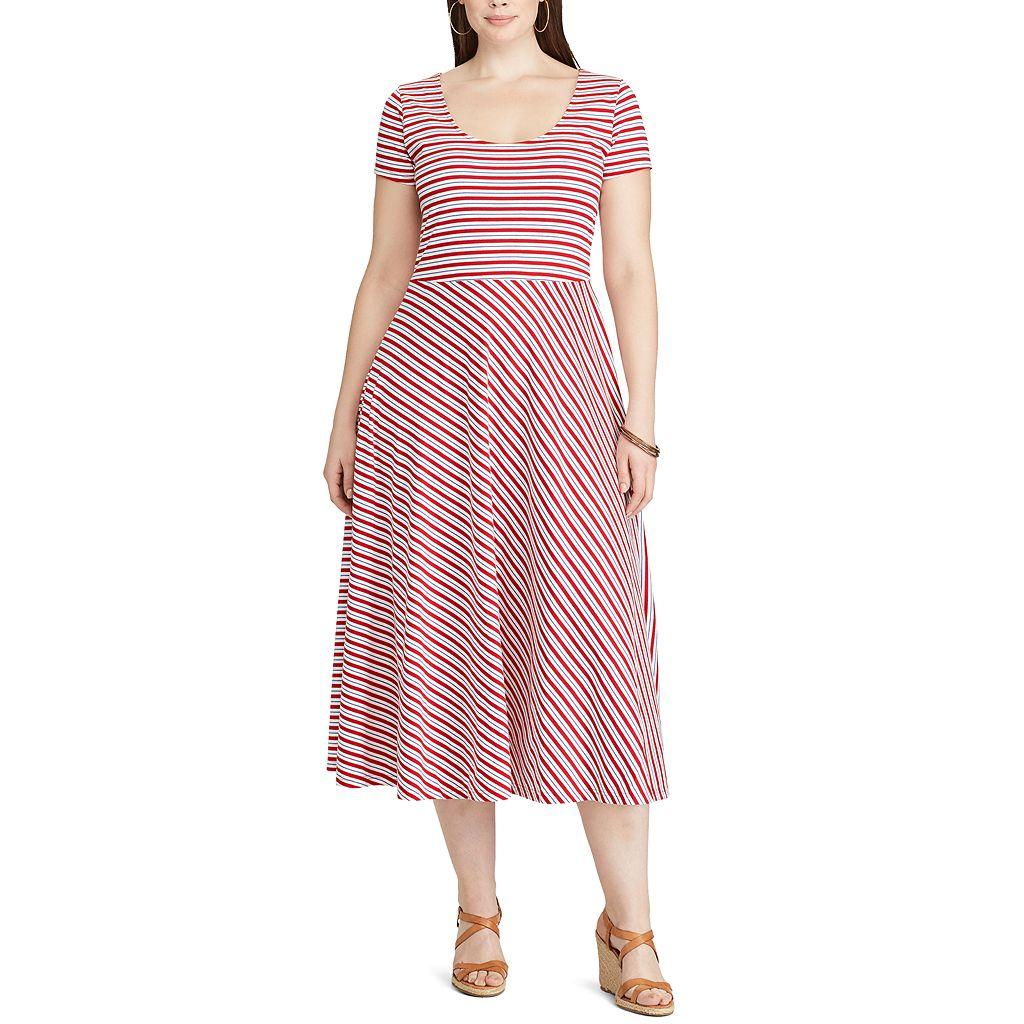Plus Size Chaps Floral Fit & Flare Dress