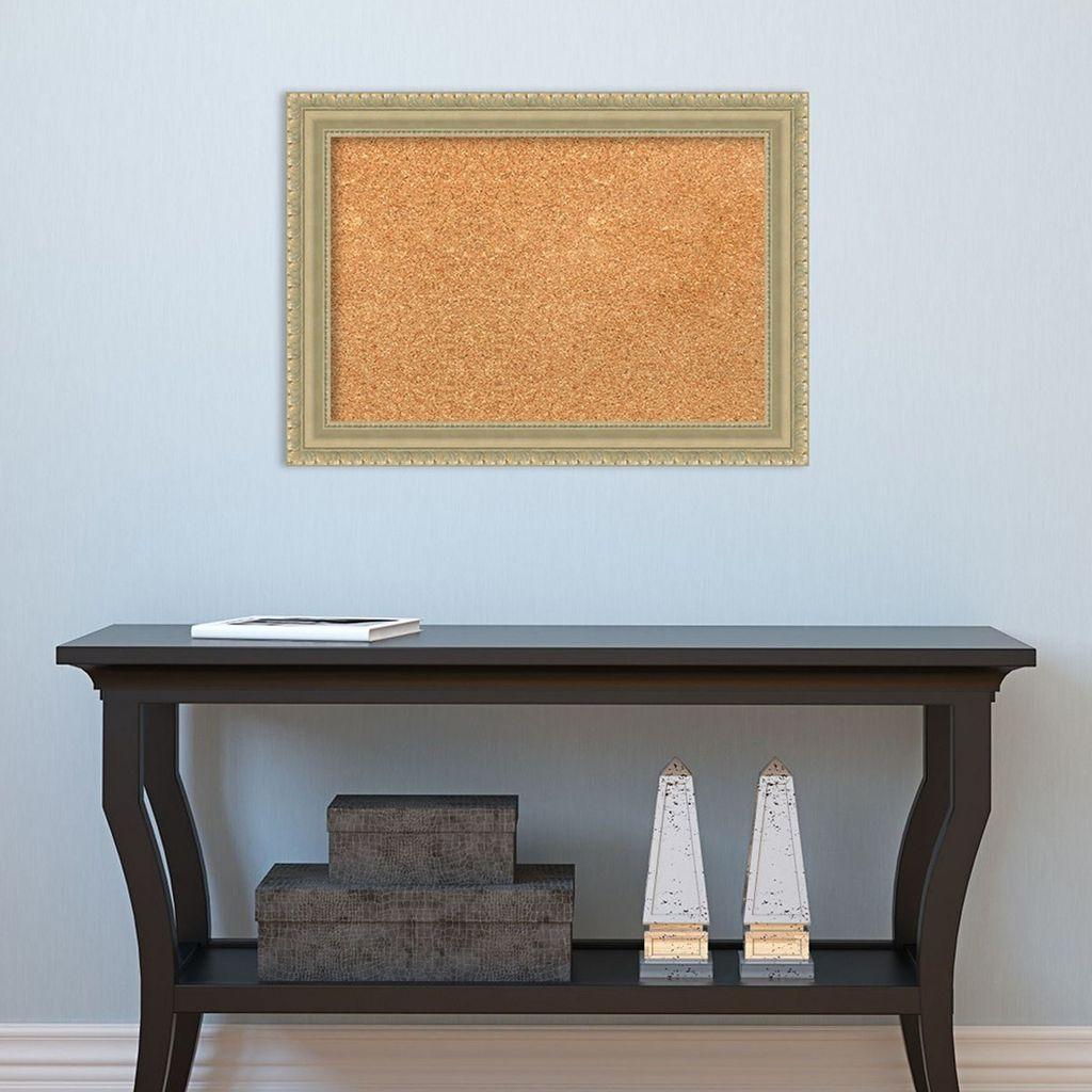 Amanti Art Champagne Finish Framed Cork Board Wall Decor