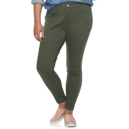 Juniors' Plus Size SO® Pull-On Color Leggings