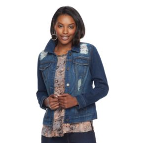 Women's Juicy Couture Embellished Jean Jacket