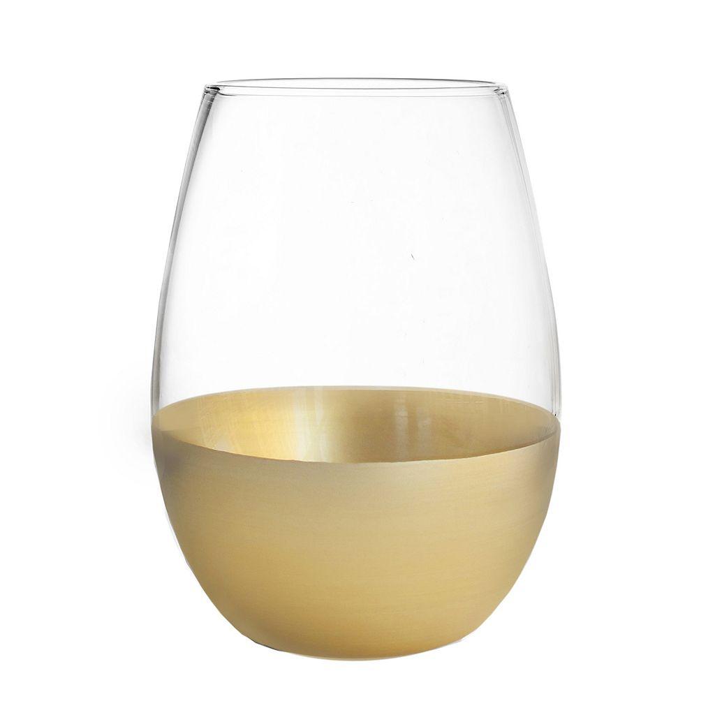 Fitz & Floyd J'Ane Gold 4-pc. Stemless Wine Glass Set